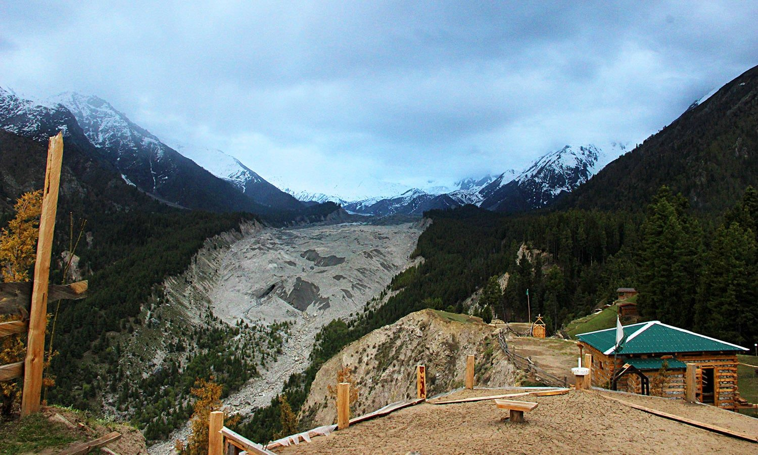 A View from Fairy Meadows Glacier