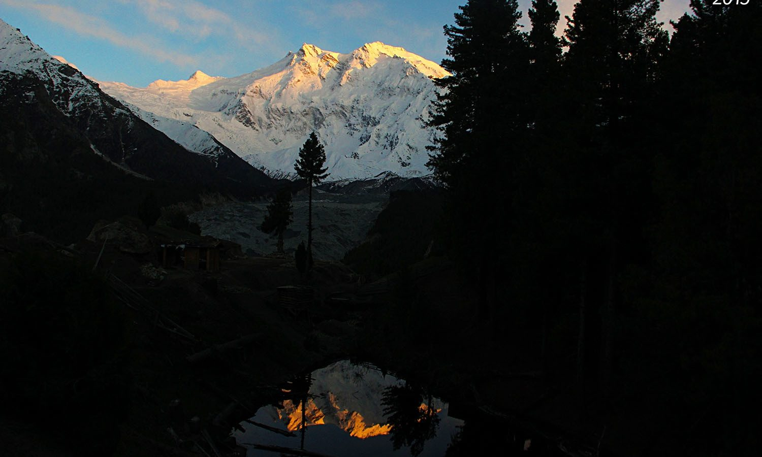 A view of Nanga Parbat in the morning